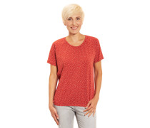 T-Shirt, Baumwolle, gepunktet, elastischer Saum