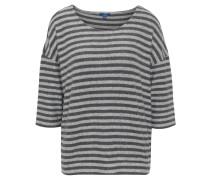 Shirt, 3/4-Arm, Streifen, flauschig, Rundhalsausschnitt