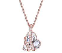 Halskette Herz Swarovski® Kristalle Sweetheart 925 Silber