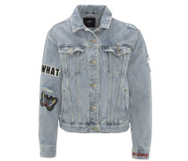 Jeansjacke, Patches, Destroyed-Look