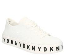 Sneaker, Logo-Print, Knit-Optik, Schnürung
