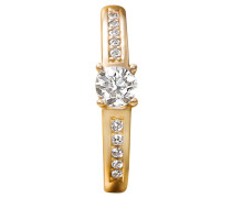 Damenring mit Diamanten Gelb 585, zus. ca. 0