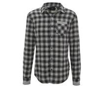 Freizeithemd, Glencheck, Jacquard-Muster