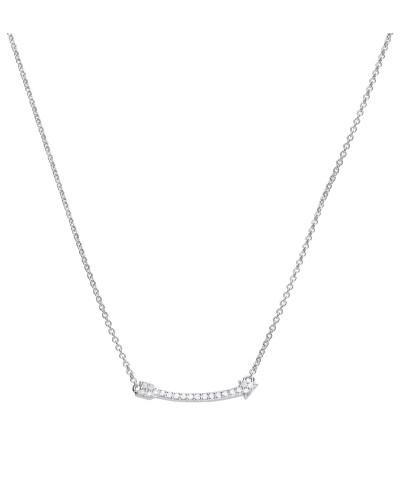 Pfeil-Collier  mit weißem -Zirkonia und Pavé-Besatz 6310031082