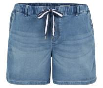 Jeans-Shorts, Used Look, Gummibund, Kordelzug