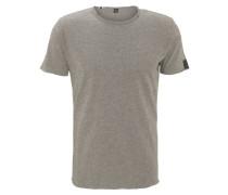 T-Shirt, offener Saum, Rundhalsausschnitt, Rückennaht