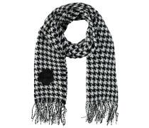 Schal, Hahnentritt Muster, Rosen/Logo Anhänger