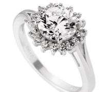 Ring, Sterling  925, -Zirkonia, zus. 2,32 ct