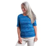 T-Shirt, Bio-Baumwolle, Bordüre, florales Muster