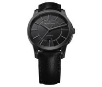 Herrenuhr Automatik Pontos Date Full Black PT6148-PVB01-330