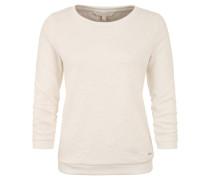 Sweatshirt, geraffte Ärmel, Florales Strukturmuster
