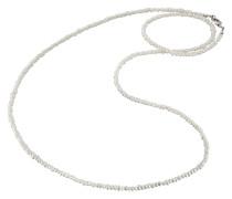 Perlenkette Silber 80cm