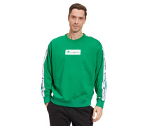 Sweatshirt, Custom Fit, Baumwolle, Logo-Print, Rippbündchen