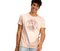 T-Shirt, Print, zarte Streifen, Flammgarn