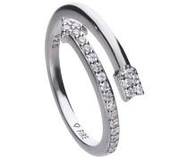 Pfeil-Ring  mit weißen Zirkonia-Steinen und offener Ringschiene 6118711082180