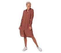 Kleid, mittellang, Pünktchen-Muster, Knopfleiste