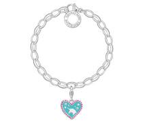 Charm-Armband Herz mit Einhorn SET0337-041-17
