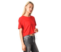 T-Shirt, cropped, Kordelzug