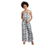 Jumpsuit, geschlitzter Saum, floral