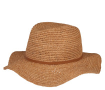 Sonnenhut, geflochten, Kunstleder-Hutband