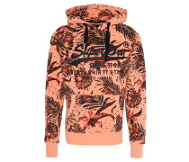 Sweatshirt, Tropical-Print, Kapuze