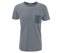 T-Shirt, gestreift, aufgesetzte Brusttasche