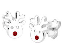Ohrringe Rentier Swarovski® Kristalle Christmas 925 Silber