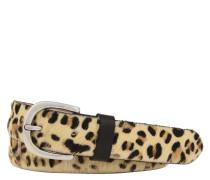 Gürtel, Leder, Leoparden-Muster