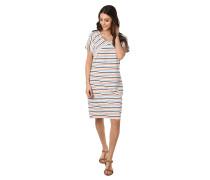 Kleid, Streifen, Rundhalsausschnitt, Baumwoll-Mix