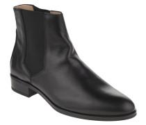 Chelsea Boots, Glattleder, Blockabsatz