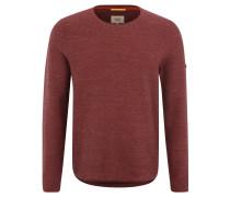 Pullover, strukturiert, gestreift, gerollte Abschlüsse