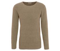 Pullover, Baumwolle, strukturiert, uni