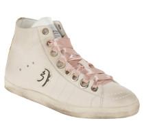 Sneaker, hoher Schaft, Satin-Schnürsenkel, Logo-Emblem