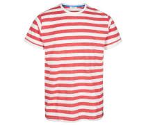 T-Shirt, Streifen, meliert, Baumwolle