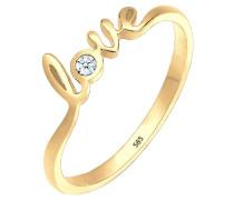 Ring Love-schriftzug Diamant 0.03 Ct. 585