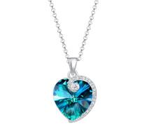 Halskette Erbskette Herz Swarovski® Kristalle 925