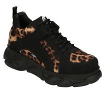 XL-Sneaker, Animal-Print, Marken-Prägung, strukturierte Sohle