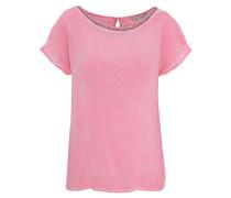 T-Shirt, Zierstäbchen-Besatz, überschnittene Schulter