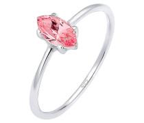 Ring Verlobung Marquise Zirkonia Stein 925 Silber