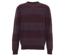 Pullover, mit Wolle, gestreift, Rippbündchen, Strick-Optik