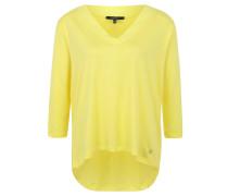 Shirt, 3/4-Arm, V-Ausschnitt, Kellerfalte