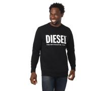 Sweatshirt, reine Baumwolle, Logo-Print, Rundhalsausschnitt