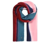 Schal, fransiger Saum, Streifen-Muster, weich