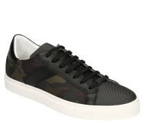 Sneaker, Leder-Details, Camouflage-Print
