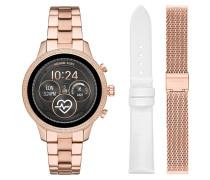 Set Smartwatch Damenuhr und Wechselarmbänder MKT5060
