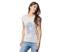 T-Shirt, Rundhalsausschnitt, Blumen-Print