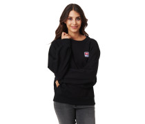 Sweatshirt, Ripp-Bündchen, Label-Patch