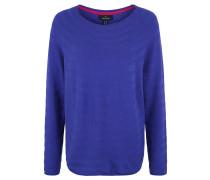 Pullover, Strick, offene Saumkanten, überschnittene Schulter