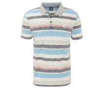 Poloshirt, Baumwolle, Logo-Stickerei, Streifen