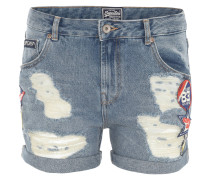 Jeansshorts, Boyfriend-Fit, Destroyed-Look, Patches